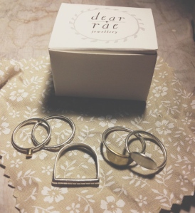 My collection of Dear Rae rings