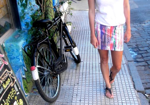 skirt white top