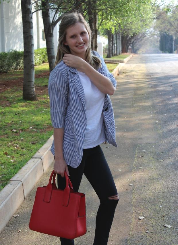 blazer and skinny jeans