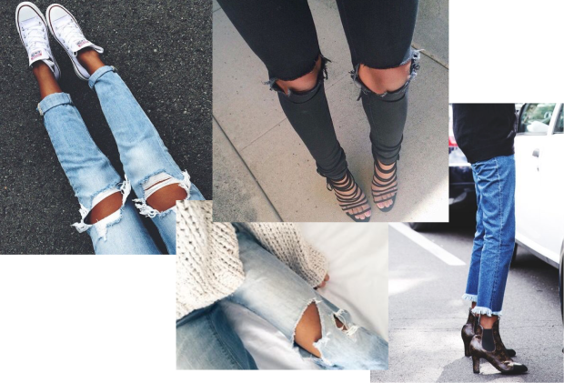 ripped jeans trend