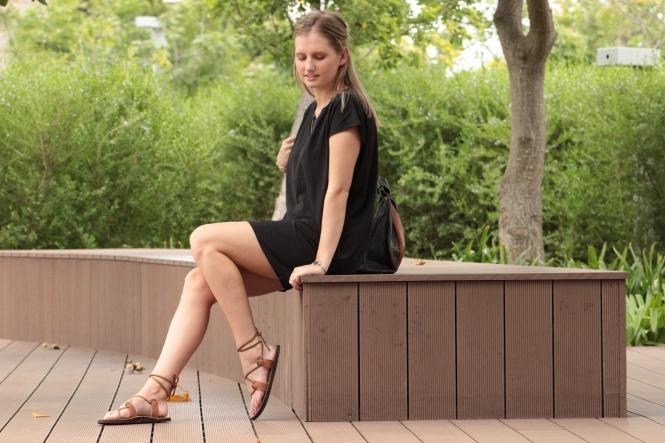 comfy black dress