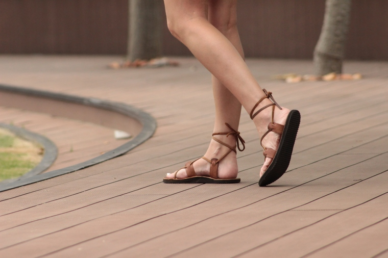 leather gladiator rope sandals